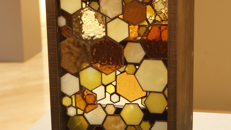 Dixon Grace Bee Box stained glass